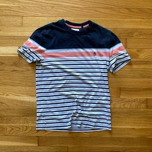 Penguin Color Block and Stripe Shirt